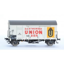 Wagon couvert DB Oppeln Dortmunder Bier HO Exact-Train. Epoque III