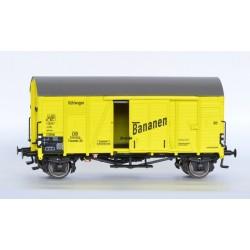Wagon couvert DB Oppeln Bananen HO Exact-Train. Epoque III