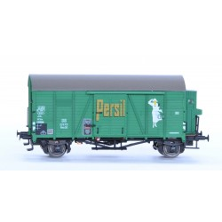Rame de 2 wagons couverts DB Oppeln Persil HO Exact-Train. Epoque III