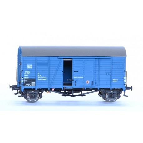 Wagon couvert DB Oppeln bleu, HO Exact-Train. Epoque IV