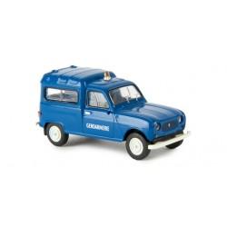 Renault 4 fourgonnette 1961, Gendarmerie Giro orange (Brekina 14720)