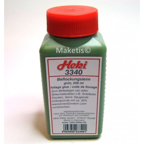 Colle pour flocage verte, 200 ml Heki 3340