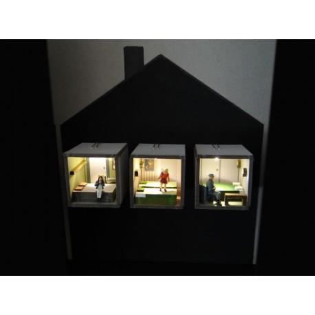 Aménagements intérieurs éclairés extension 3 pieces
