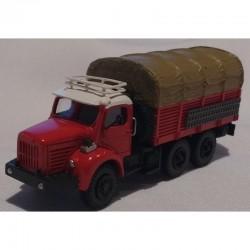 """Berliet GBC 8 MK """" gazelle"""" - rouge - 1/87eme HO - MAKETIS"""