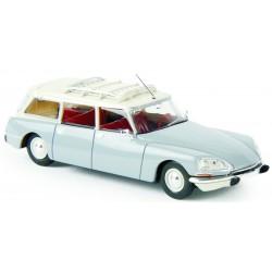 Citroën ID 21 break, gris argent, toit blanc Brekina 14216 - MAKETIS