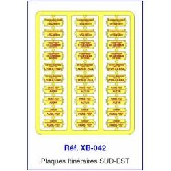 Plaques Itinéraire Voiture Voyageur Lettres Rouges - SUD-EST HO REE XB-042