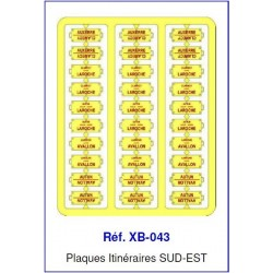 Plaques Itinéraire Voiture Voyageur Lettres Rouges - SUD-EST HO REE XB-043