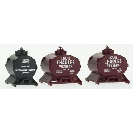 Set de 3 Containers Citerne (2 Louis Charles et 1 Taillard) HO REE XB-036