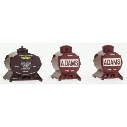 Set de 3 Containers Citerne (2 Adams et 1 Simotra) HO REE XB-038