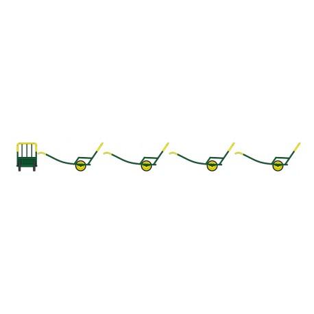 Set de 4 Chariots à Bras Ep.IV Vert Jaune HO REE XB-015
