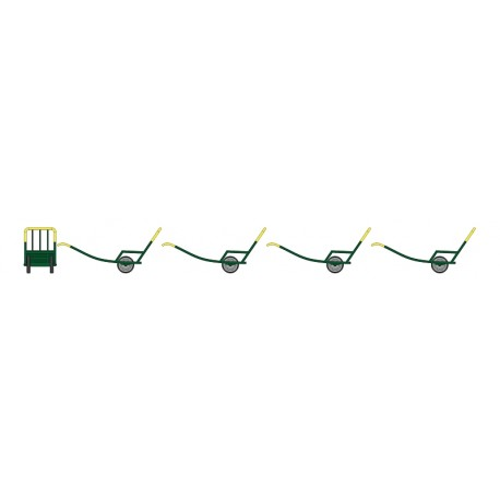 Set de 4 Chariots à Bras Ep.III Vert foncé - Jaune HO REE XB-016