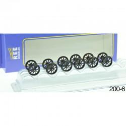 Set de 6 Essieux OCEM Roues Rayons D 1050 HO REE XB-200-06