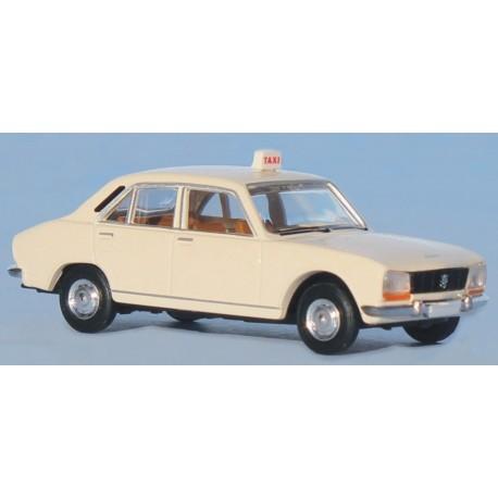 Peugeot 504, taxi blanc Brekina SAI 2095.1 - MAKETIS