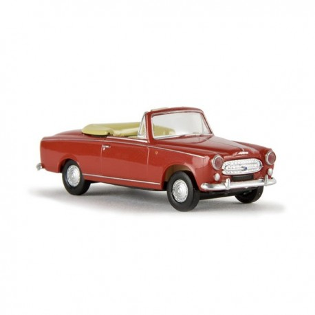 Peugeot 403 cabriolet, rouge SAI 2530 - MAKETIS