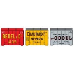 Set de 3 cadres Aérosudest (BEDEL-CHAUTARD-ODOUL) Ep.III HO REE XB-061