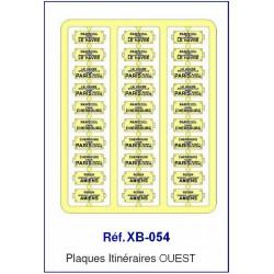 Plaques Itinéraire Voiture Voyageur Lettres Bleues - OUEST HO REE XB-054