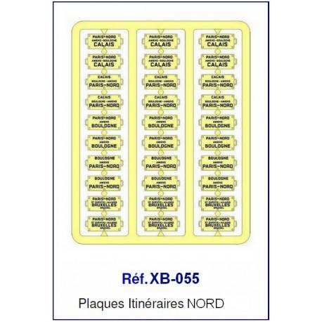 Plaques Itinéraire Voiture Voyageur Lettres Bleues - NORD HO REE XB-055