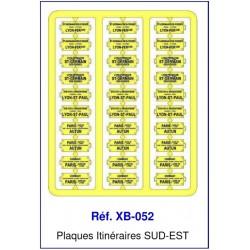 Plaques Itinéraire Voiture Voyageur Lettres Bleues - SUD-EST HO REE XB-052