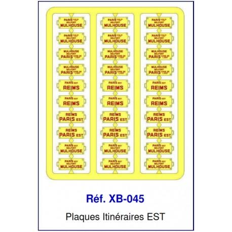 Plaques Itinéraire Voiture Voyageur Lettres Rouges - EST HO REE XB-045