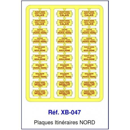Plaques Itinéraire Voiture Voyageur Lettres Rouges - NORD HO REE XB-047