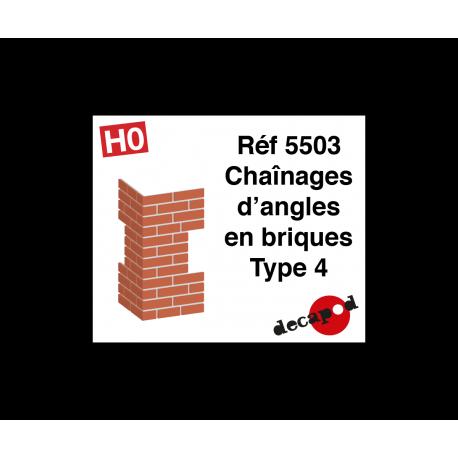 Chaînages d'angles en briques type 4 [HO]