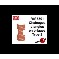 Chaînages d'angles en briques type 2 [HO]