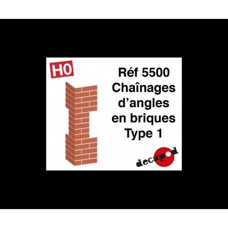 Chaînages d'angles en briques type 1 [HO]