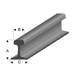 Profilés de Rail en Styrène gris acier 100 cm