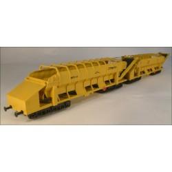 Wagon auto-stockeur et déchargeur Plasser & Theurer MFS40 HO en kit - MAKETIS