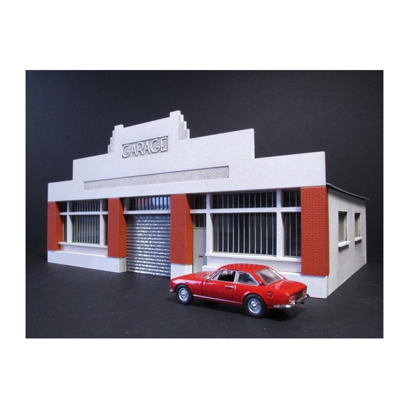 garage auto art d co ho toit carton cit s miniatures bv 030 ho c. Black Bedroom Furniture Sets. Home Design Ideas