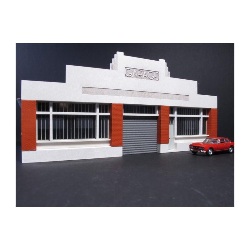 garage auto art d co ho toit carton cit s miniatures bv 030 ho c. Black Bedroom Furniture Sets. Home Design Ideas