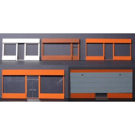 Façade boutique moderne HO longue