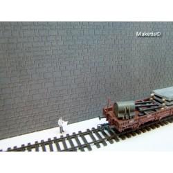 Quader Läufer Mauerwerk, grau Weinert 34002