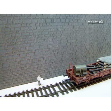 Mur pierre taillées irrégulières gris Weinert HO 34002-Maketis