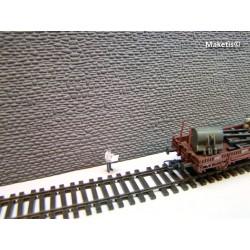 Mur en pierres naturelles gris HO Weinert 34005