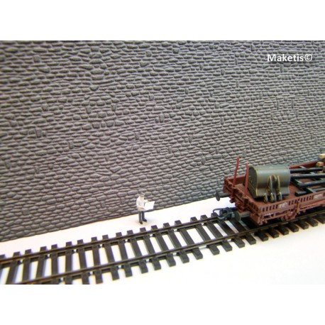 Mur en pierres naturelles gris Weinert HO 34005 - Maketis