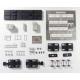 Dégarnisseuse Plasser & Theurer RM80 UHR TSO + pousseur HO en kit - MAKETIS