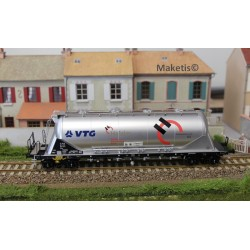 "Wagon silo pulvérulents Uacns ""VTG - HOLCIM"", argent EP VI, ref 503602"