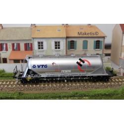 "Wagon silo pulvérulents Uacns ""VTG - HOLCIM"", argent EP VI, ref 503605"