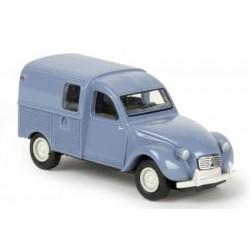 Citroën 2 CV fourgonnette AZU 1961, avec fenêtres latérales, bleu myosotis (Brekina 14167)