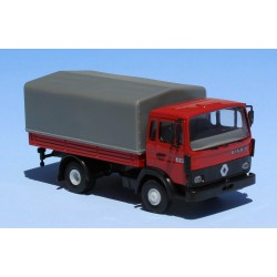 Camion Renault JN 90 bâché, rouge, bâche gris foncé (Brekina 34855)
