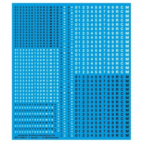 Marquage Helvetica HO Tchoutchou 87061 - Maketis
