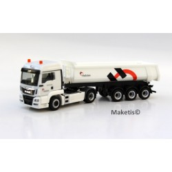 MAN TGS LX Euro 6 benne Cahrnehl 3 essieux HO NME/Herpa 503205 - Maketis