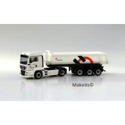 MAN TGS LX Euro 6 et benne Cahrnehl 3 essieux HO, ref 503208