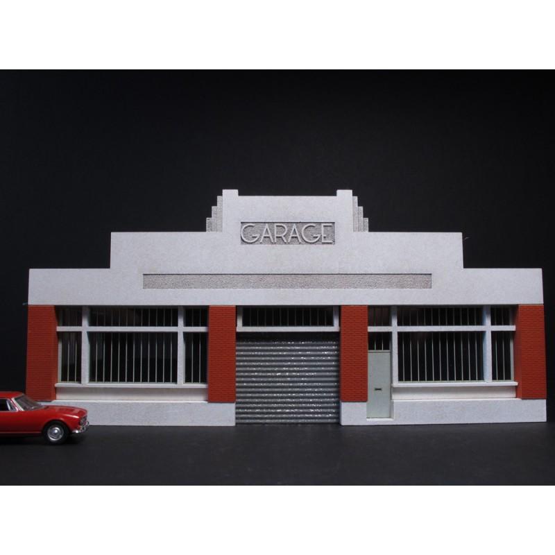 Fa ade de garage automobile art d co ho cit s miniatures for Garage de peinture automobile