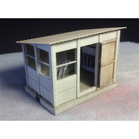 Cabine d'aiguillage HO (petite), pack de 2