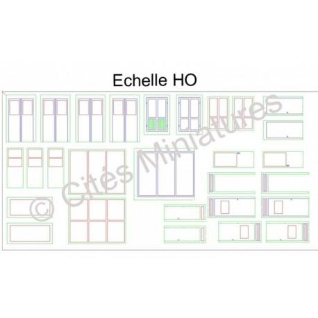 Portes industrielles : Assortiment (x 18) Echelle HO