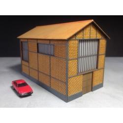 Usine - Chaufferie briques creuses - Echelle N Cités Miniatures BV-004-N - MAKETIS
