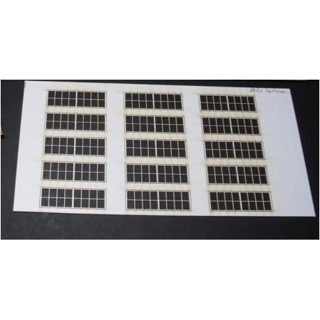 Fenêtres Remise / Atelier Petits carreaux 15 fenêtres (2x8) HO