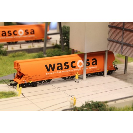 Silo wagon Tagnpps 130m3, WASCOSA orange ep. 6, ref 508609- MAKETIS